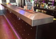 Comptoir de bar inox