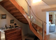 Rampe escalier inox poli
